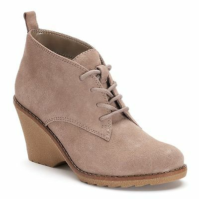 0d5e9943f NWT Women's SONOMA Goods for Life Suede Ankle Boots Choose Size Taupe