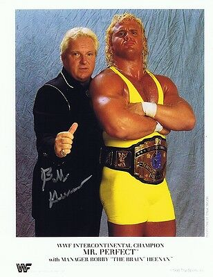 Bobby 'The Brain' Heenan Autographed Signed 8x10 Photo  w/COA WWE W/Mr. Perfect