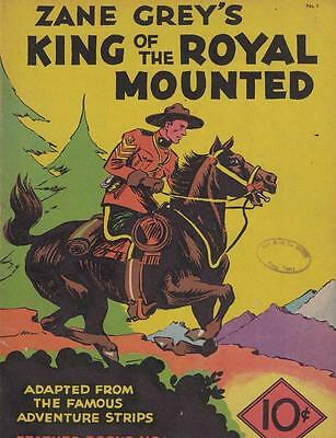 Zane Grey's King of the Royal Mounted Feature Books No. 1 1936 VG! RARE!!!