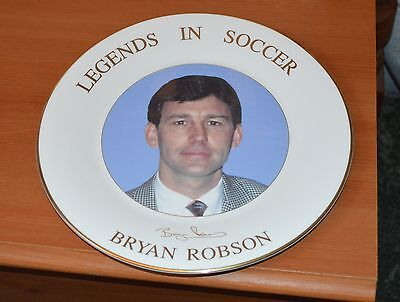 Bryan Robson Legends In Soccer Ceramic Plate Manchester United