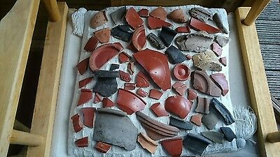 Massive unique Roman collection of beautiful pottery from Yorkshire England