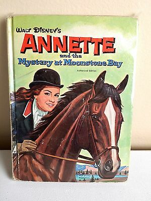 ANNETTE WHITMAN BOOK- Mystery at Moonstone Bay- Funicello, Disney, Vintage