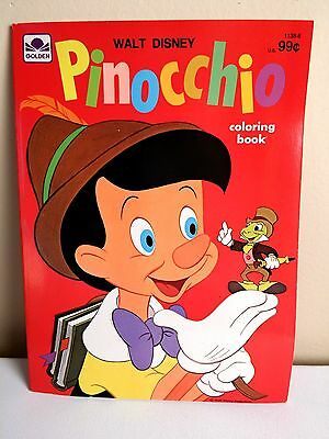 PINNOCCHIO- Vintage Golden/ Whitman Coloring Book- Brand New Condition! 1975