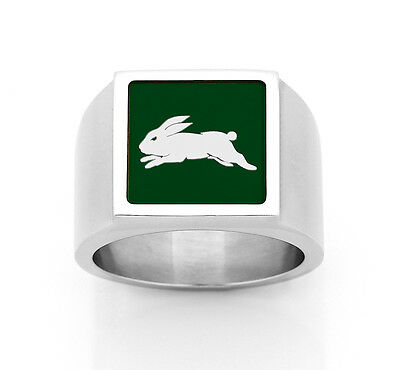 South Sydney Rabbitohs NRL RING Stainless Steel Etched Fathers Christmas Gift