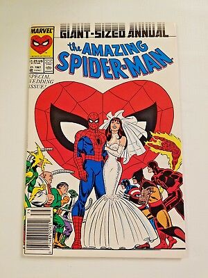 The Amazing Spider-Man Annual #21 (1987 Marvel) Special Wedding Issue NM+