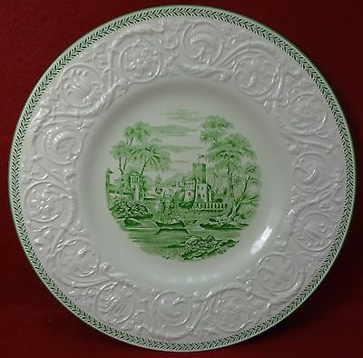 WEDGWOOD china TORBAY GREEN AM7865 pattern Dinner Plate scene #1 - 10-5/8""