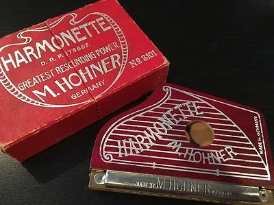 Vintage Hohner Harmonette Harmonica in Box Germany