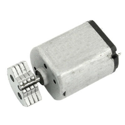 DC1.5V-9V 0.08A 3200RPM Output Speed Micro Vibrating Motor, 18x15x12mm Silver LW