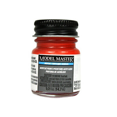 Chevy Engine Red - Gloss Acrylic Paint 4629 - 1/2 oz. Bottle by Model Master Tes