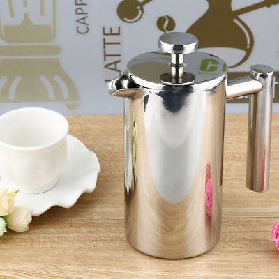 Stainless Steel Insulated Coffee Tea Maker with Filter Double Wall 350ML