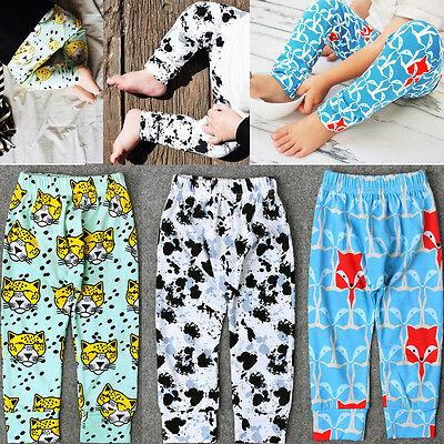 Newborn Baby Harem Pants Toddler Boy Girls Animal Print Trousers Cotton Leggings