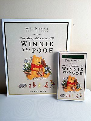 WINNIE THE POOH- VHS Exclusive Deluxe Edition- Book and Making of Video SEALED