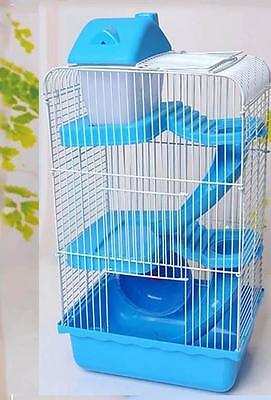 Hamster Cage Rat Mouse House Castle Habitat Play Running Bottle Tube 3 Tiers Pet