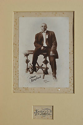 Sam Langford Heavyweight Boxing Champion vintage photograph by KERRY & CO c1908