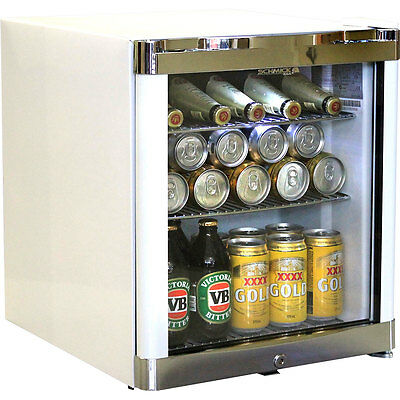 New Bar Fridge - Tropical Mini Glass Door  - 50 Litres - Husky - White