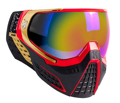 HK Army KLR Goggles - Element - Red / Gold w/ Fusion Mirror Thermal Lens