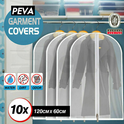 10x Suit Dress Clothing Dust Cover Bags Jacket Wardrobe Storage Coat Protector[1