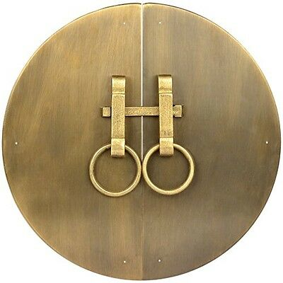 Chinese Brass Hardware Button and Zipper Cabinet Face Plate 12-1/2''