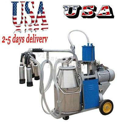 Electric Milking Machine Milker For form Cows Bucket 25L 304 Stainless Steel UK+
