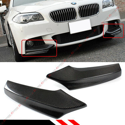 For 11-16 BMW F10 5 Series 535i 528i Carbon Fiber M Sport Front Bumper Splitters