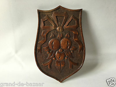 Vintage Hand Carved Wood Plaque  - Wall Plaque