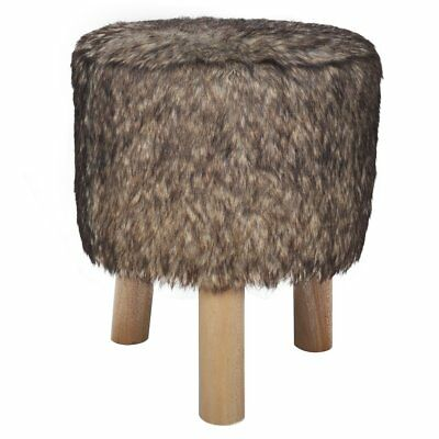 # Foot Stool Plush Round Footrest Ottoman Seat Home Footstool Wooden Chair Sofa