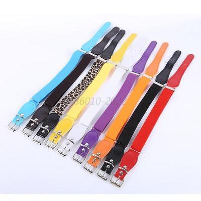 Adjustable Boy Girl Kids Elastic Candy Colour Children Buckle Strap Waistband UK