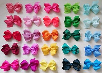 GROSGRAIN RIBBON BOW Rainbow HAIR CLIP PIN ALIGATOR CLIPS FLOWER BABY/GIRL