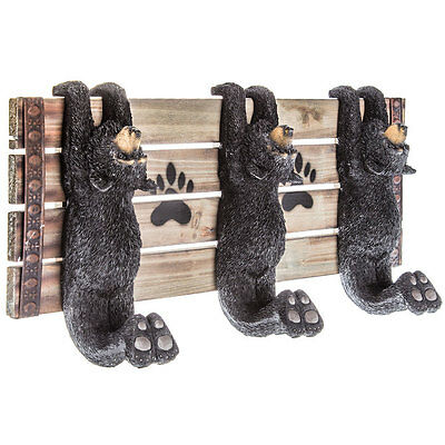 Black Bear Wall Hook Decor