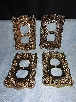 4 Decerative Brass Recepital Cover Plates