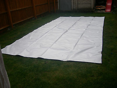 10×40 heavy duty PVC Sheets with reinforced edging  (water proof )