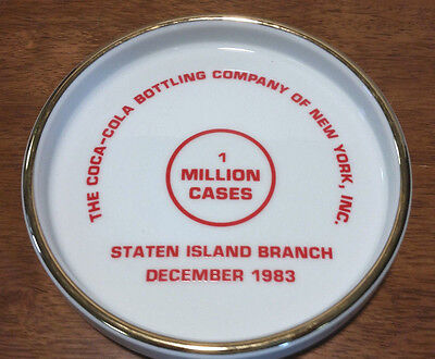 Vintage 1983 Staten Island Coca-Cola Coke Advertising Tray 1 Million cases