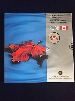 "Royal Canadian Mint ""Commemorative Coin Set"" 2008 incl. 25 Cents in Farbe"