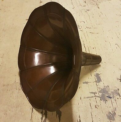 Gramophone Brass Horn in Antique Finish