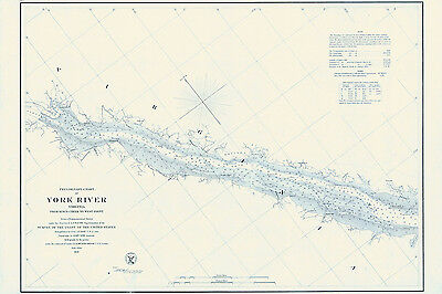 1858 Map of the York River Virginia