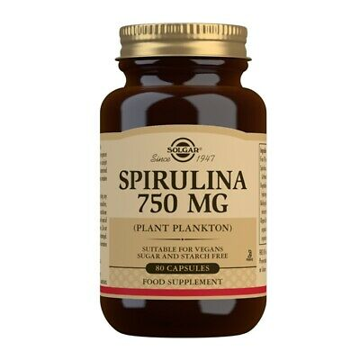 Solgar Spirulina 750mg tablets 100