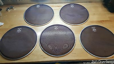 """Set of 5 Pearl Muffle Head 10"""" Mesh Silent Drum Heads - Excellent"""