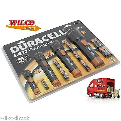 Duracell Family 4 Pack Torch Super LED Flashlight Duracell Torches Ind Batteries