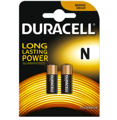 2 x DURACELL N Security MN9100 1.5V Alkaline Batteries Battery LR1 E90 AM5