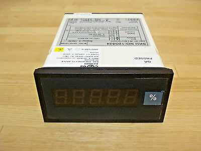 Digital Panel Meter, Process, 4 to 20mA DC, Red LED, 0 to 100% Display Span