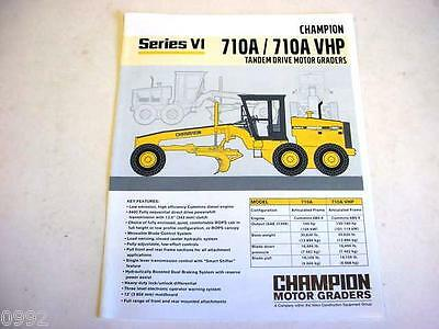 Champion 710A/710A VHP Motor Graders Color Literature                         b2