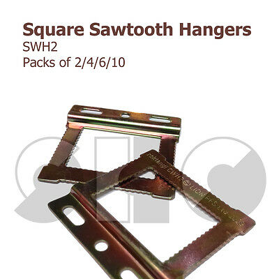 CWH2 Square Sawtooth HANGERS for Frames with flat/papered backs 2/4/6/10