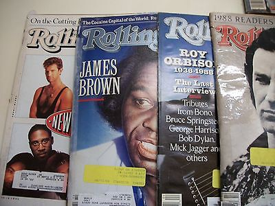 Lot 17 Of Rolling Stone Magazines 1982-1991 Madonna James Brown Yearbooks