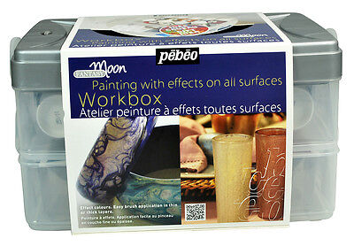 Pebeo Fantasy Moon Special Effect Multi Surface Paint Workbox Set 10 x 45ml