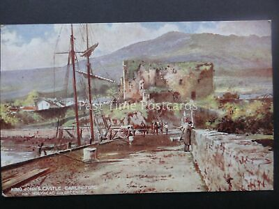 Railway Official L&NW Carlingford KING JOHNS CASTLE Holyhead & Greenore Postcard