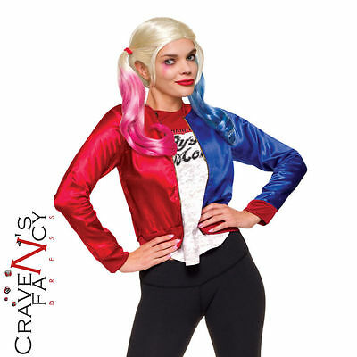 d3f17d2820a9 Harley Quinn Costume Kit Suicide Squad Jacket Halloween Ladies Fancy Dress  New
