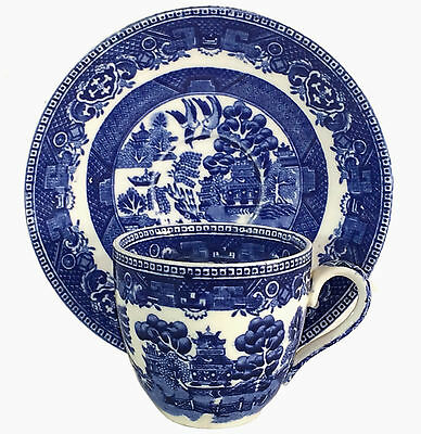 Alfred Meakin Old Willow Pattern Demitasse Cup & Saucer - 2 available