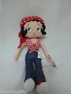 "12"" All American Betty Boop Plush Posable Doll Licensed 44159 Applause 2003"