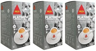 3x16 Delta Coffee Platinum ESE Pods/Servings : 48 Pods : Best Portuguese Coffee!