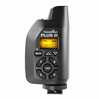 NEW PocketWizard 433MHz Plus III Wireless Transceiver Black (PW-PLUS3-CE)